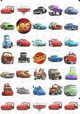 30 Cars Edible Rice Wafer Paper Cupcake Toppers PRE CUT