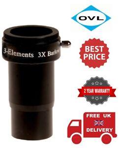 OVL 3x Short Barlow 3 Elements with T-Thread Lens 20286 (UK Stock)