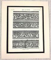 1903 Antik Aufdruck 17th Century Französisch Architektur Verziert