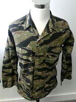 Army Men's Military Camo Black Grn Field 4 Pocket Jacket Size M Tru Spec