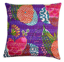 Hand stich Kantha Fruit Print Home Decor Cushion Cover, Pillow Cover, Case Cover