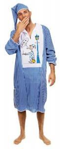 Nacht Hemd Schlaf Anzug Schlafhemd Pyjama Kostüm Nachthemd Schlafwandler Herren