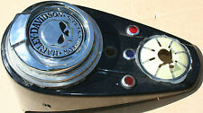 Used Custom Chopper Knucklehead 3 Light Dash Speedo Cover W Skull Cover (U-790)