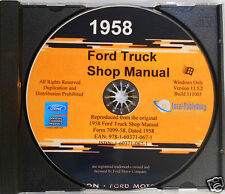 1958 Ford Truck Shop Manual (CD-ROM)