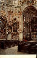 Ettal Bayern Ansichtskarte ~1920/30 Innenansicht der Basilika Blick auf Kanzel