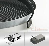 10 m Rolle Moosgummi Selbstklebend 10x5 mm Zellkaukautschuk EPDM schwarz 1C16-15
