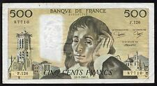 QUALITE : TOP BILLET 500 FRANCS PASCAL DU 04/09/1980 @ BILLET SOUVENIR @ PROMO !