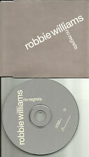 ROBBIE WILLIAMS No Regrets w/RARE EDIT EUROPE made PROMO DJ CD single USA Seller