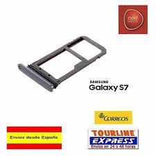 Bandeja Porta SIM MicroSIM Color Gris Oscuro Para Samsung Galaxy S7 G930