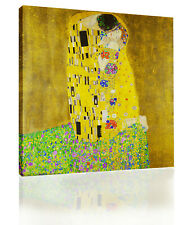 Gustav Klimt The Kiss Canvas Wall Art Picture Print Oil Painting