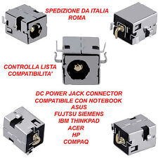 CONNETTORE ALIMENTAZIONE DC POWER JACK ASUS A52 A53 A54 K52 K53 X52 X53 X54 X58