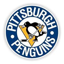 Pittsburgh Penguins (Blue) Round Decal / Sticker Die cut