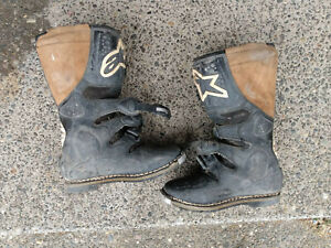 Vintage Alpinestar Tech 6 T6 Motocross Boots Men's Sz 10, NO RESERVE, FAST SHIP