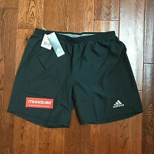 "New Adidas Run Sho M Climalite 7"" Running Shorts Dark Grey Dry Fit AI7507 Size L"