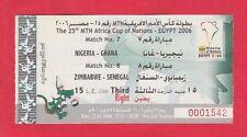 Orig.Ticket  Afrikameisterschaft ÄGYPTEN 2006   NIGERIA-GHANA + ZIMBABWE-SENEGAL