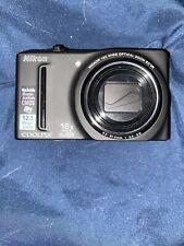 Nikon COOLPIX S9100 12.1MP Digital Camera - Black