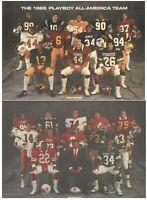 Playboy 1986 All-America Football Team Brian Bosworth The Boz TEAM PICS ONLY