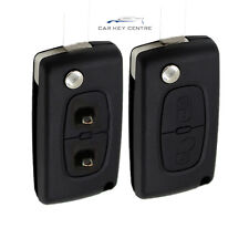 Repair for Peugeot 2 button Flip Remote Fob Key Case Blade 207 307 308