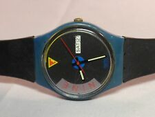 Swatch Watch Vintage 1989 Gents GS-701 BLUE JET