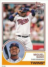 2018 Topps Series 1 1983 #/49 5x7 #83-37 Miguel Sano - Minnesota Twins