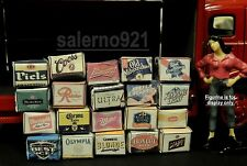 VINTAGE VARIETY OF 20 BEER CASES READY TO DISPLAY1:24 G SCALE ACCESSORY!