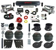 Complete Air Ride Suspension Kit 38 Air Manifold Bags Amp Tank For 58 64 Impala