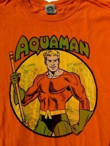 Distressed Vintage Retro DC Comics Licensed AQUAMAN Adult Orange T SHIRT XL Fish