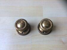 Attractive Pair of Vintage Reclaimed Round Brass Mortice Door Knobs
