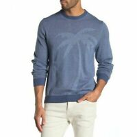 Tommy Bahama Mens BlueTonal Palm Crew Neck Sweater Size XL