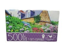 "500 Piece Jigsaw Puzzle ""COLORFUL HYDRANGEAS"" Cardinal  14"" X 11"" Family Fun"