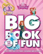 Disney Princess Big Book of Fun - Sticker - Story - Colouring Book - New