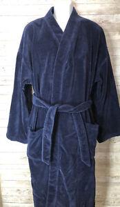 Ralph Lauren Polo Terry Bathrobe Belted Blue Mens Sz L/XL