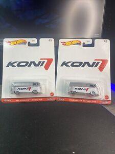Hot Wheels Premium Koni Volkswagen T1 Panel Bus Busses REAL RIDERS 4/5 Lot Of 2