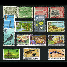ST KITTS NEVIS Selection 15 Values. Fine Used  or Lightly Hinged Mint. (AB584)