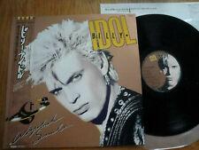 """BILLY IDOL - WHIPLASH SMILE - TOP JAPAN 12"""" LP 33 + OBI - CHRYSALIS WWS-91157"""