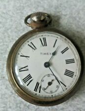 VINTAGE POCKET WATCH -  TIMEX - TICKING AWAY - CRACKED GLASS