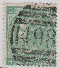 "GB QV 1 S. Vert SG101 Plaque 4 CV = 275 £ un shilling ""HG"" Good used stamp"