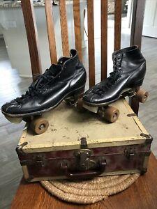 Vintage Chicago HYDE Men's Black Roller Skates With Case. Size 10-11