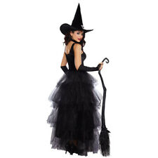 Women Halloween Witch Fancy Dress Adult Sorceress Hat Cosplay Outfit Costume Set