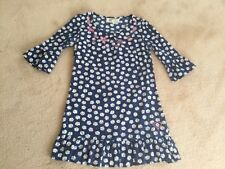 SUMMER QUIRKY FLORAL EMBROIDERED TOPSHOP COTTON DRESS SZ 8 BELL SLEEVE RUFFLE