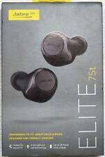 Jabra Elite 75t True Wireless Headphones, Titanium Black