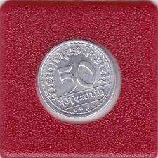 50 Pfennig 1921 A Deutsches Reich German Empire prima Erhaltung