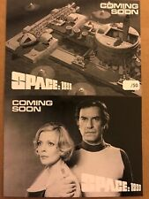 SPACE 1999: PROMO CARDS: PREVIEW SET - PR1 & PR2 - BLACK & WHITE PROOF CARDS