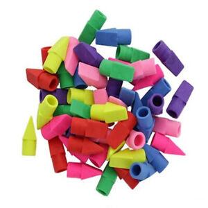 50PCS Erasers Pencil Tops Eraser Caps Student Painting  Correction Supplies