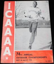 1950 ICAAAA COLLEGE TRACK & FIELD CHAMPIONSHIP PROGRAM w/ TICKET STUB SETON HALL