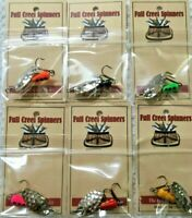 Lot Of 6 Inine Trout Spinner American Made Lure Hammered Nickel Blade 6 Colors