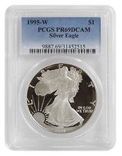 1995-W 1oz Proof Silver American Eagle PR69 PCGS - Blue