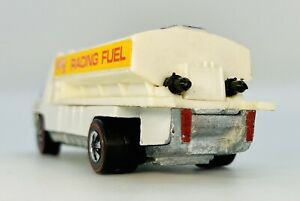 1971 RARE Hot Wheels Redline Heavyweights FUEL TANKER White Interior Original!