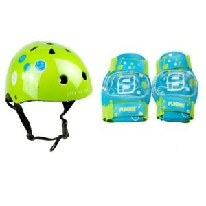 NEUF. SET PROTECTIONS CASQUE + COUDIERES + GENOUILLERES MIXTE ROLLER SKATE ...