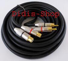 Chinch Audio Kabel High End 7m Hifi 99,99% Kupfer Cinchkabel Verlängerung Cinch